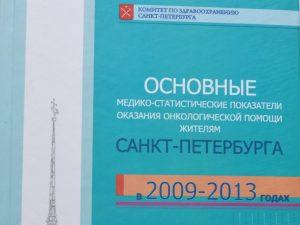 Издание монографии «Основные медико-статистические показатели оказания онкологической помощи жителям Санкт-Петербурга в 2009-2013 годах»