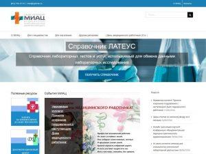 Создание нового сайта МИАЦ spbmiac.ru для специалистов сферы здравоохранения и для населения