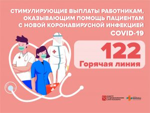 Номер горячей линии по стимулирующим выплатам работникам, оказывающим помощь пациентам с COVID-19